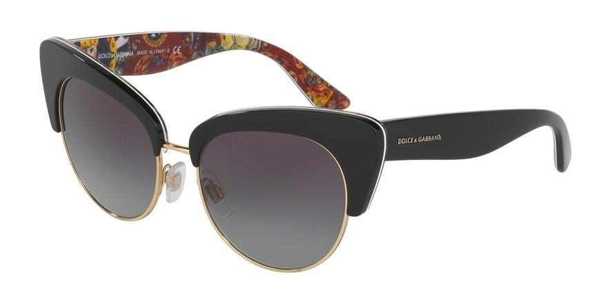 19423463e907 Occhiali da Sole Dolce   Gabbana DG4277 30338G. Montatura  frontale nero su carretto  siciliano