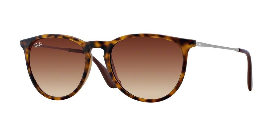 a0146588bc Sunglasses Ray-Ban RB4171 Erika 865 13. Frame  rubber havana. Lenses  brown  gradient