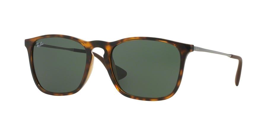 6a8167aebaa Sunglasses Ray-Ban RB4187 Chris 710 71. Frame  light havana. Lenses  green