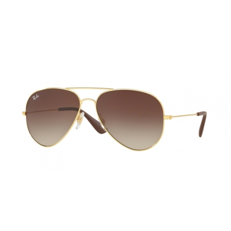 Ray-Ban RB3558 001/13 | Frame: gold | Lenses: brown gradient dark brown