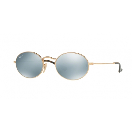 Ray-Ban RB3547N Oval 001/30 | Frame: gold | Lenses: grey mirror