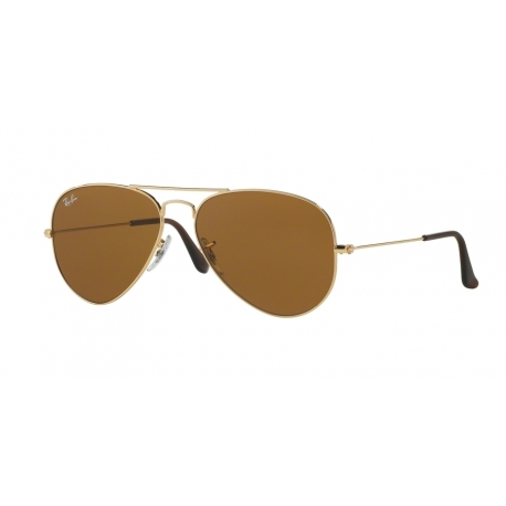 Ray-Ban RB3025 Aviator Large Metal 001/33 | Frame: gold | Lenses: crystal brown