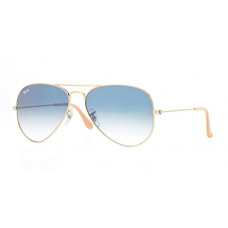Ray-Ban RB3025 Aviator Large Metal 001/3F | Frame: gold | Lenses: crystal gradient light blue