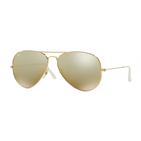 Ray-Ban RB3025 Aviator Large Metal 001/3K | Frame: gold | Lenses: crystal brown silver mirror gradient