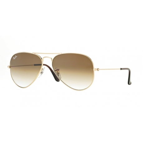 Ray-Ban RB3025 Aviator Large Metal 001/51 | Frame: gold | Lenses: crystal brown gradient