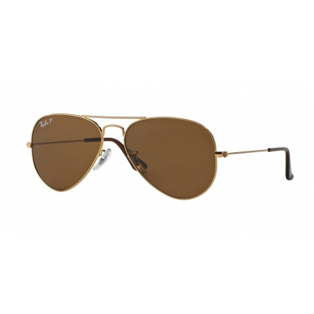 Ray-Ban RB3025 Aviator Large Metal 001/57 | Frame: gold | Lenses: crystal brown polarized