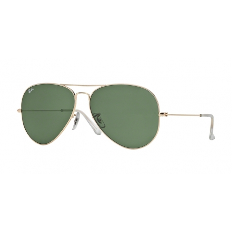 Ray-Ban RB3025 Aviator Large Metal 001 | Frame: gold | Lenses: grey green