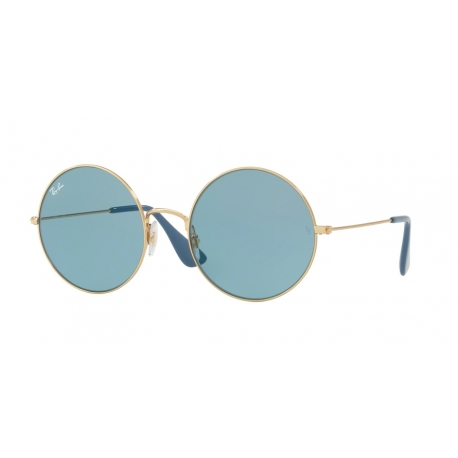 Ray-Ban RB3592 Ja-Jo 001/F7 | Frame: gold | Lenses: light blue