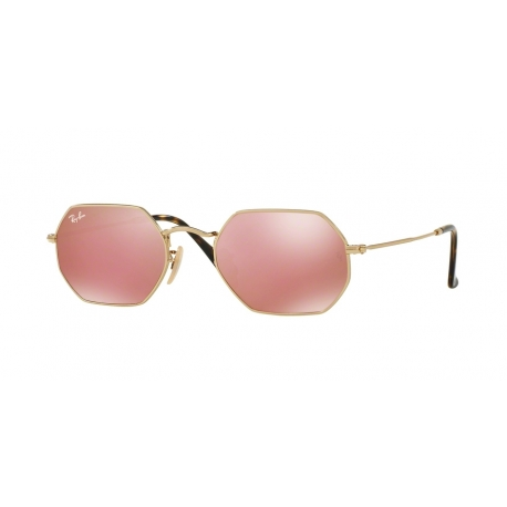 Ray-Ban RB3556N Octagonal 001/Z2 | Frame: gold | Lenses: copper mirror