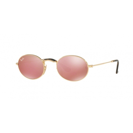 Ray-Ban RB3547N Oval 001/Z2 | Frame: gold | Lenses: copper mirror
