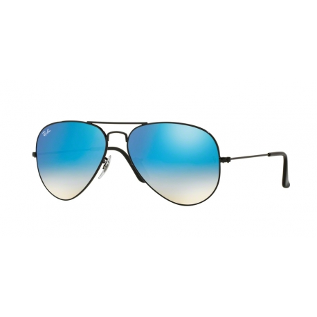 Ray-Ban RB3025 Aviator Large Metal 002/4O | Frame: shiny black | Lenses: blue gradient mirror