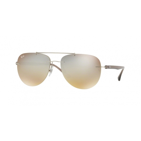 Ray-Ban RB8059 003/B8 | Frame: silver | Lenses: gradient brown silver mirror