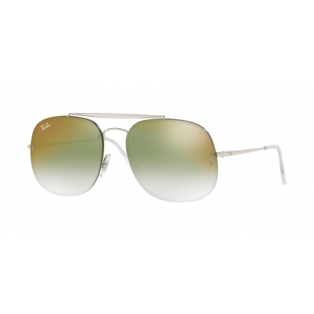 Ray-Ban RB3583N 003/W0 | Frame: silver | Lenses: transparent gradient green mirror red