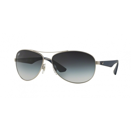 Ray-Ban RB3526 019/8G | Frame: matte silver | Lenses: grey gradient