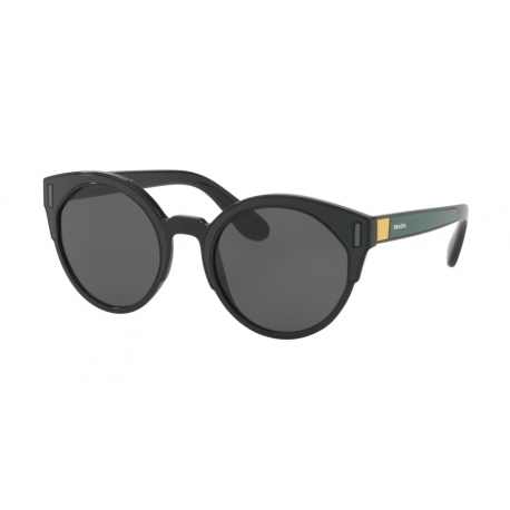 Prada PR 03US 07E5S0 | Frame: black, grey, yellow | Lenses: grey
