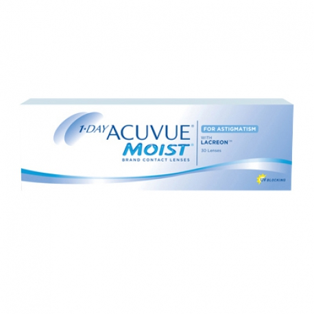 Johnson & Johnson 1-DAY ACUVUE MOIST for ASTIGMATISM | Type: toric for astigmatism | Life: daily disposable