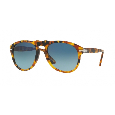 Persol PO0649 1052S3 | Frame: brown, havana | Lenses: blue gradient dark blue polarized