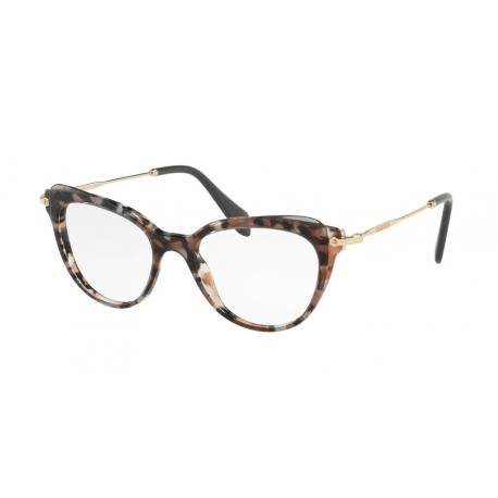 Eyeglasses Miu Miu | MU 01QV - 1111O1 | Frame: grey havana, cocoa ...
