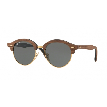 Ray-Ban RB4246M Clubround Wood 118158 | Frame: gold | Lenses: green polarized