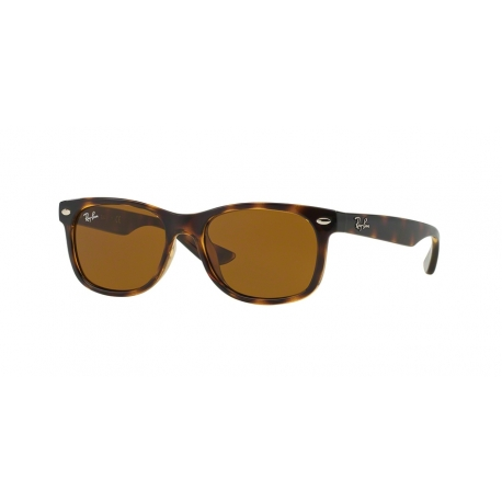 Ray-Ban Junior RJ9052S Junior New Wayfarer 152/3 | Montatura: avana brillante | Lenti: marrone