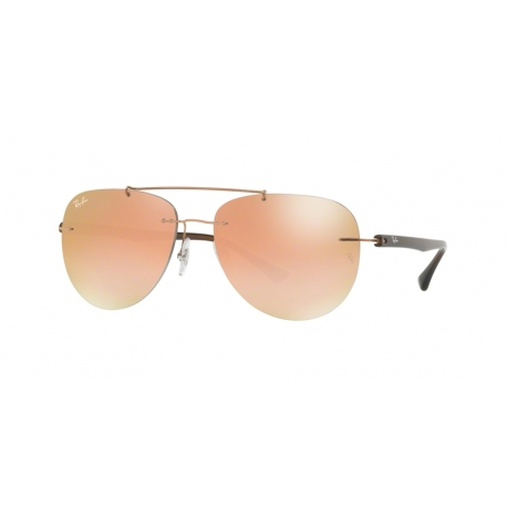 Ray-Ban RB8059 155/B9 | Frame: copper | Lenses: green gradient brown mirror pink