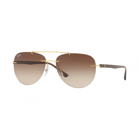 Ray-Ban RB8059 157/13 | Frame: gold | Lenses: brown gradient