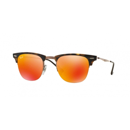 Ray-Ban RB8056 175/6Q | Frame: shiny light brown | Lenses: brown mirror orange