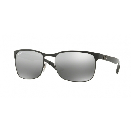 Ray-Ban RB8319CH 186/5J | Frame: black top on matte black | Lenses: grey mirror grey gradient polarized