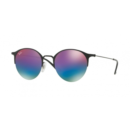 Ray-Ban RB3578 186/B1 | Frame: black, matte black | Lenses: green mirror blue gradient violet