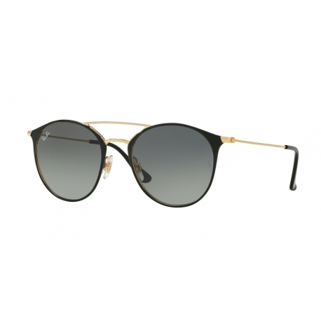 Ray-Ban RB3546 187/71 | Frame: gold top black | Lenses: grey gradient