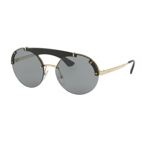 Prada PR 52US 1AB3C2 | Frame: pale gold, black | Lenses: grey