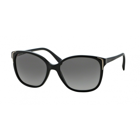Prada PR 01OSA 1AB3M1 | Frame: shiny black | Lenses: grey gradient