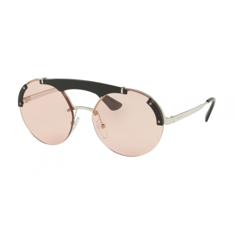 Prada PR 52US 1AB4Q0 | Frame: silver, black | Lenses: light pink