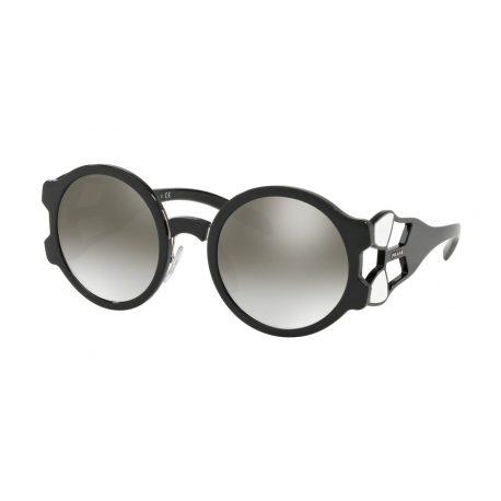 Prada PR 13US 1AB5O0 | Frame: black | Lenses: gradient grey silver mirror
