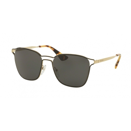 Prada PR 54TS 1AB5S0 | Frame: black, pale gold | Lenses: grey