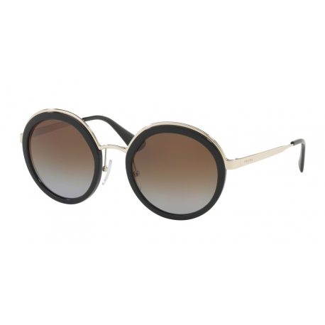 Prada PR 50TS 1AB6E1 | Frame: black | Lenses: light grey gradient dark brown polarized