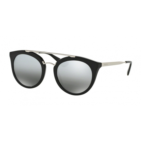 Prada PR 23SSF Cinema 1AB6N2 | Frame: black | Lenses: grey silver mirror gradient