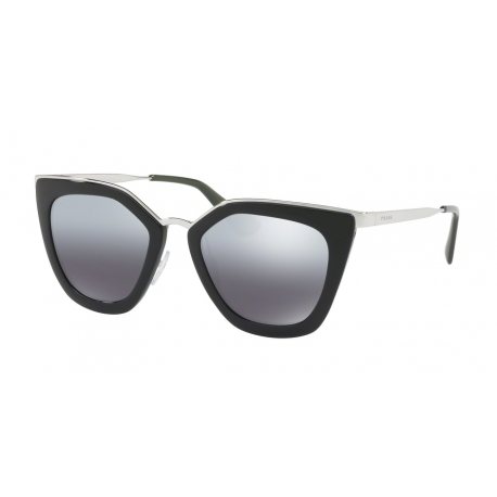 Prada PR 53SS 1AB6R2 | Frame: black | Lenses: polarized grey mirror gradient silver
