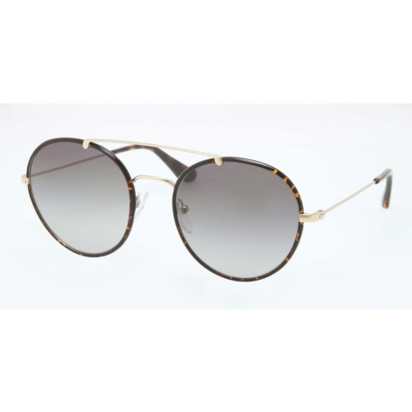 Prada PR 53PS Parallel Universes 2AU0A7 | Frame: pale gold, havana | Lenses: grey gradient