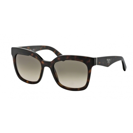 Prada PR 24QS Triangle 2AU3D0 | Frame: havana | Lenses: light brown gradient light grey
