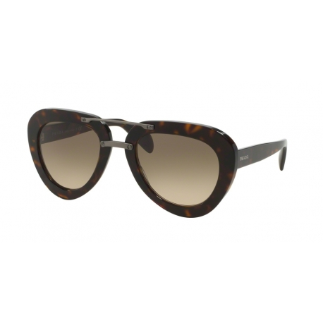 Prada PR 28RS 2AU3D0 | Frame: havana | Lenses: light brown gradient light grey