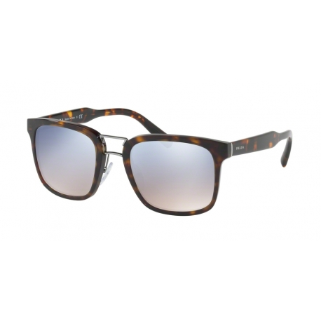 Prada PR 14TS 2AU5R0 | Frame: havana | Lenses: gradient light blue silver mirror