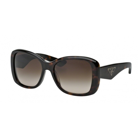 Prada PR 32PS Triangle 2AU6S1 | Frame: havana | Lenses: brown gradient