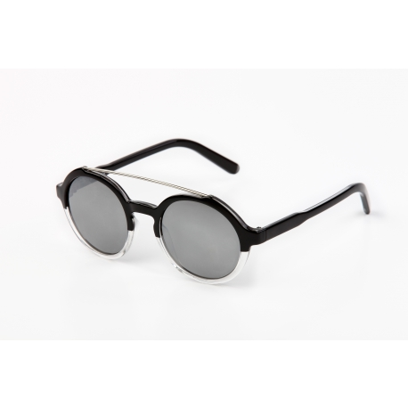 Ikona 3-1871 A329KM | Frame: black | Lenses: grey mirror