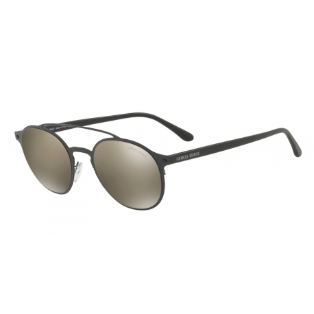 Giorgio Armani AR6041 30015A | Frame: matte black | Lenses: light brown mirror dark gold