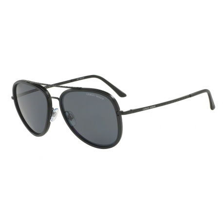 Giorgio Armani AR6039 300181 | Frame: matte black | Lenses: polarized grey