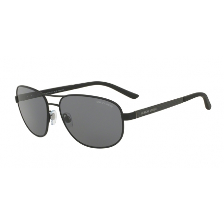 Giorgio Armani AR6036 313681 | Frame: black rubber | Lenses: polarized grey