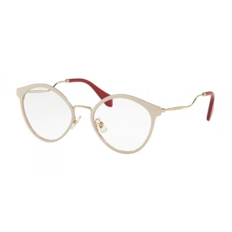ae582406a1aa Luxury Eyeglasses Miu Miu | MU 52QV - 4UD1O1 | Frame: pink glitter |  Sunglasses Domus Online Shop