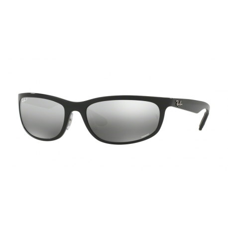 Ray-Ban RB4265 601/5J | Frame: shiny black | Lenses: grey polarized silver mirror