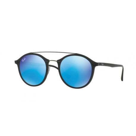Ray-Ban RB4266 601S55 | Frame: matte black | Lenses: light green mirror blue